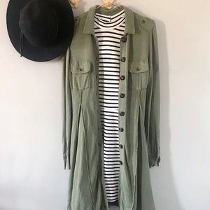 FREE PEOPLE Military Knit Sweater Dress/Duster